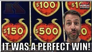 I got a PERFECT WIN on Dollar Storm Slot Machine!