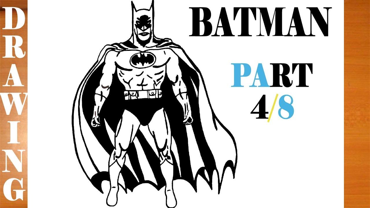 Comment Dessiner Batman Etape Par Etape Facile Pour Les Enfants Sur