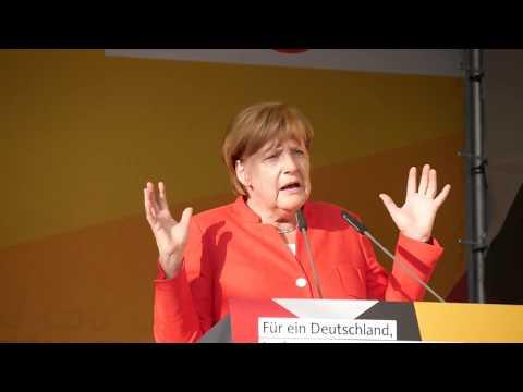 22. August 2017 - Angela Merkel in Bergisch Gladbach