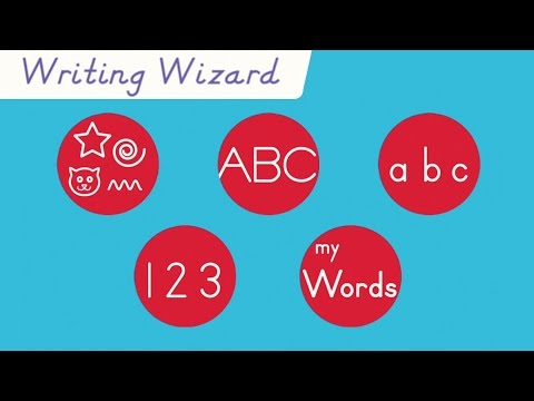 Learn your letters and numbers in Writing Wizard