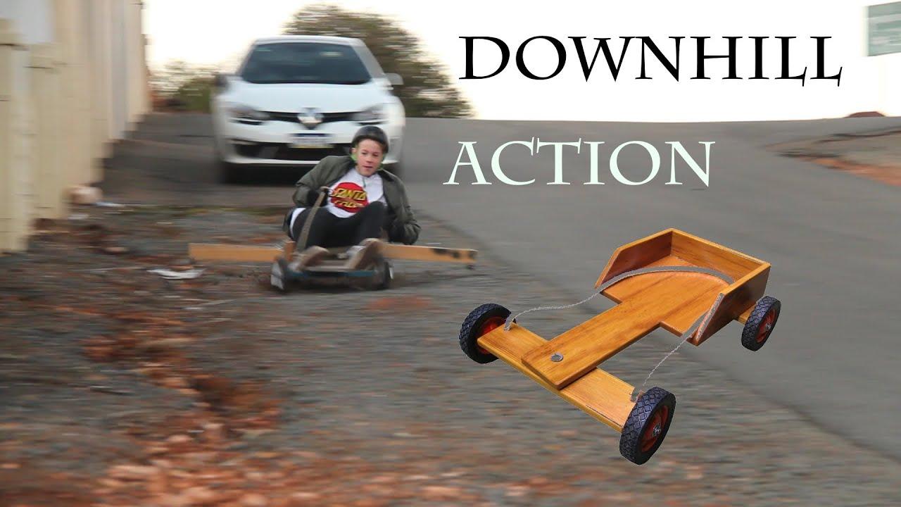 Go Kart Downhill Action Youtube