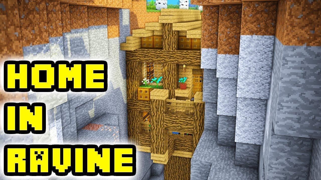 Minecraft Ravine House Tutorial (How to Build)