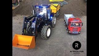 RC Truck Fun! RC Tractors in Big Scale, Trucks, Construction I 2018