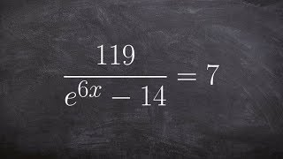 Solving an exponential equation with e on the denominator