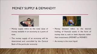 Money, Interest Rates & Exchange Rates - World Economy