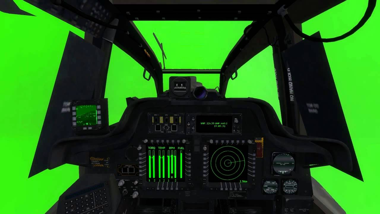helicopter cocpits green screen animation ah64 longbow by razor6031 youtube. Black Bedroom Furniture Sets. Home Design Ideas