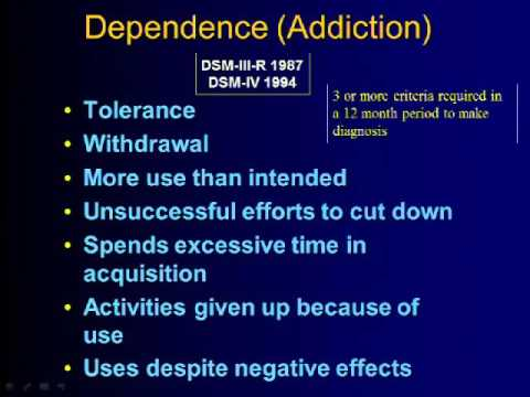 Revised Diagnostic Criteria for Substance Use Disorders: The DSM-5