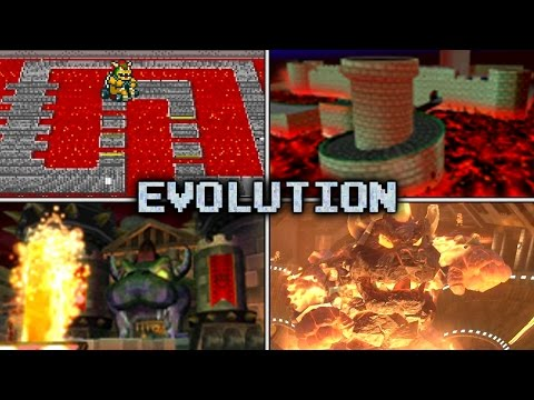 Evolution of Bowser's Castle Courses in Mario Kart (1992 - 2017)