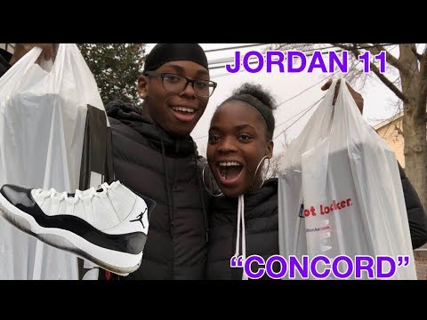 COUPLE SNEAKER COP!! PICKING UP THE JORDAN CONCORD 11s!!!