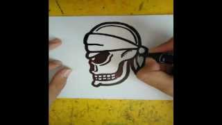 How to draw a skull (from the side)