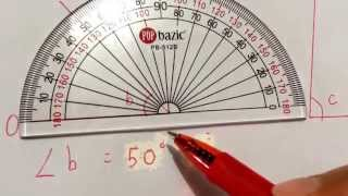 How to measure angles using protractor thumbnail