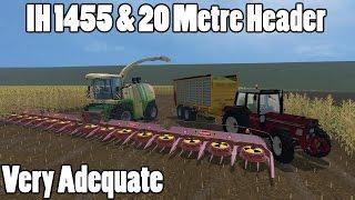 Farming Simulator 15 - Triple Mod Showcase With Silage (IH 1455, Veenhuis & Mega Header)