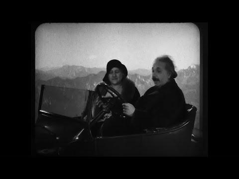 1931 Film Of Einstein In 'Flying Car' Discovered