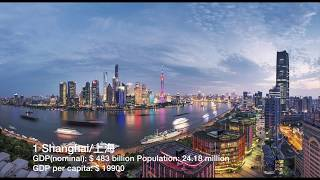 Top 50 Richest Cities in Mainland China (by GDP nominal)