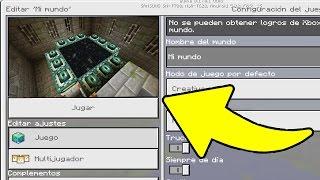 SEED CON EL PORTAL DEL END Y MEGA ALDEA PARA MINECRAFT PE 0.17.0 - 1.0 !!!