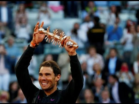 Rafa Nadal overpowers Dominic Thiem to win fifth Madrid tennis title