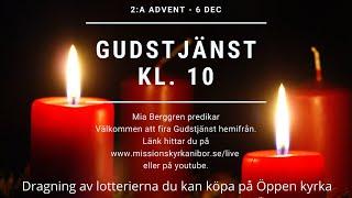 20201206 Gudstjänst i Missionskyrkan i Bor kl. 10