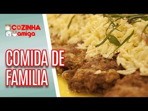 Saltimboca com Risoni e Arroz Doce com Chocolate - Carla Pernambuco | Cozinha Amiga (06/07/18)