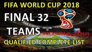 FIFA world cup 2018 qualified  32 teams list | FIFA world cup 2018 Qualifiers | MD1 production
