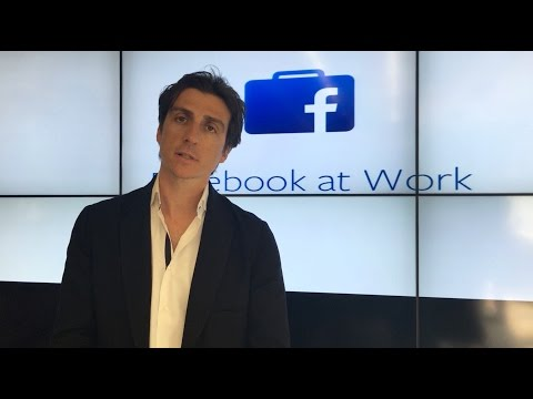 Facebook At Work: Julien Codorniou Explains