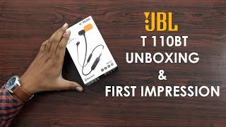 JBL Bluetooth Headset Tune 110BT Unboxing and Review