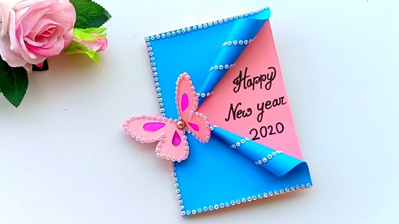 Beautiful Handmade Happy New Year 4 Card Idea / DIY Greeting Cards for  New Year.