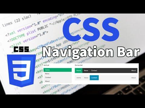 CSS Tutorial - Navigation Bar ( Vertical & Horizontal )