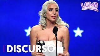 Revive el emocionante discurso de Lady Gaga al ganar como Mejor Actriz en los Critics' Choice Awards