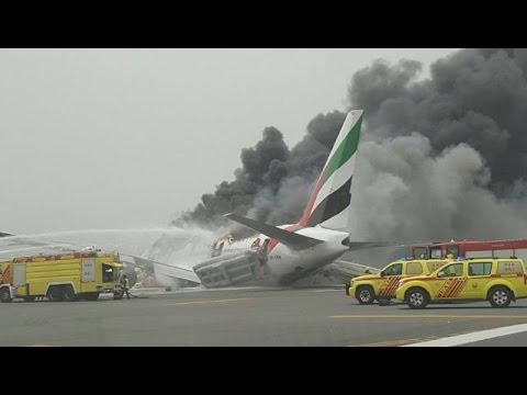 Emirates Flight From India Crash-Lands, Catches Fire At Dubai Airport As Landing Gear Fails