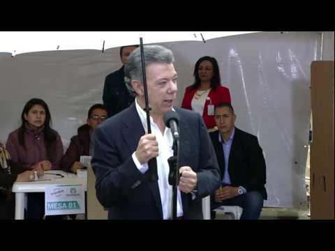 Declaración del Presidente Juan Manuel Santos al depositar su voto en el Plebiscito