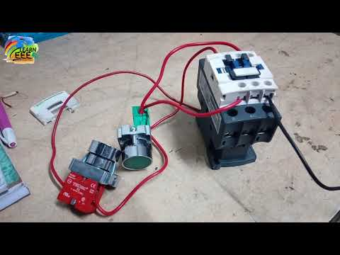 Practically Contactor Connection with NO and NC Switches in Hindi.
