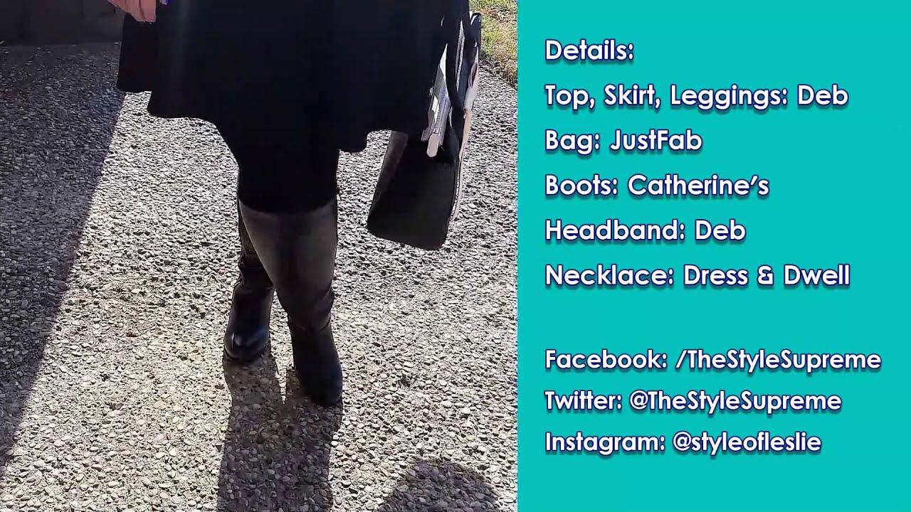 0ba036639 Plus Size OOTD: Bonjour Sweater and Skater Skirt - YouTube