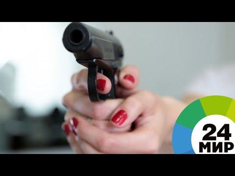 Художница из Казахстана учит девушек стрелять в университете спецназа - МИР 24
