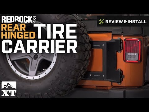 Jeep Wrangler RedRock 4x4 Rear Hinged Tire Carrier (2007-2017 JK) Review & Install