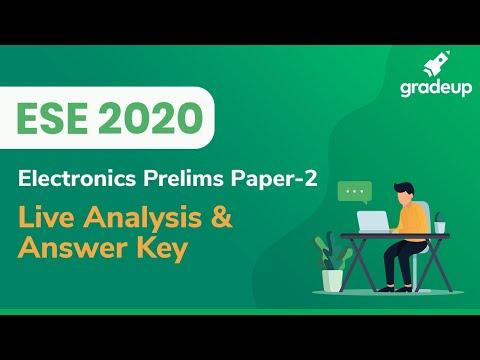 ESE 2020 Prelims Analysis | Paper 2 | ESE 2020 Answer Key | Electronics & Communication Engineering