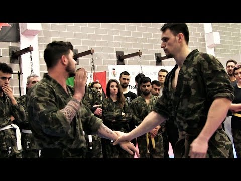 KRAV MAGA TRAINING • How to escape when a BIG Guy grabs you (part 1)