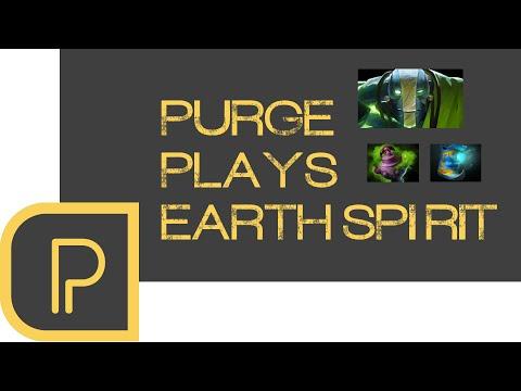 Dota 2 Purge plays Earth Spirit