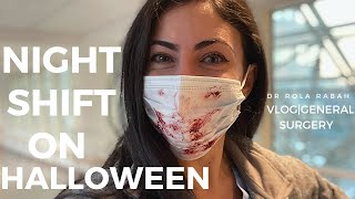 NIGHT SHIFT ON HALLOWEEN | VLOG: General Surgery Intern