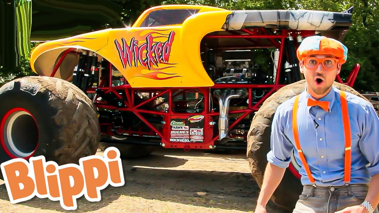 Blippi Learns about Monster Trucks! - Educational Videos for Kids