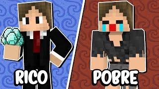 Minecraft: JAZZGHOST RICO VS JAZZGHOST POBRE!!!