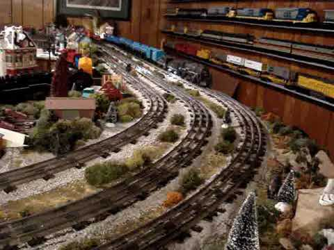 The Basement train Tapes06 Marx Steam Trains runnin