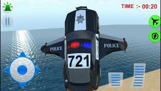 Flying Police Car Driver Simulator 2016 iOS Gameplay