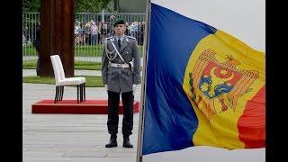 Ehrenkompanie - Moldawiens Ministerpräsidentin Maia Sandu - Militärische Ehren