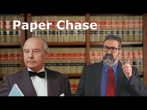 Paper Chase vs Law Professor