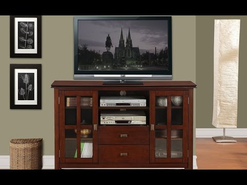 Simpli Home Axchol005 Artisan Collection Tv Stand In Medium Auburn