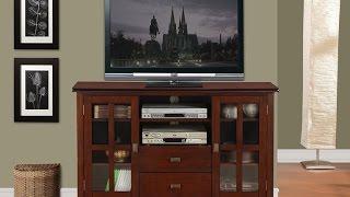 Simpli Home Axchol005 Artisan Collection Tv Stand In Medium Auburn Brown Glazed Finish