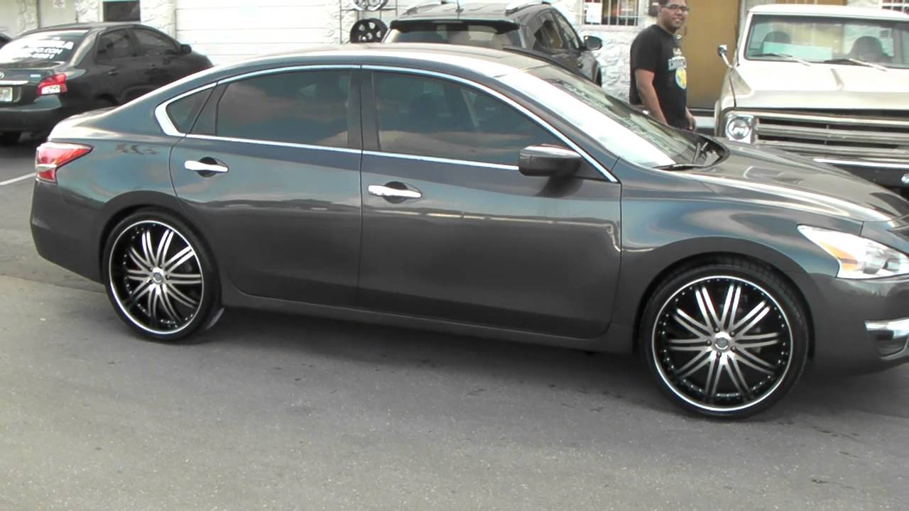 "877-544-8473 22"" Inch Velocity 865 Black Rims 2013 Nissan Altima Wheels We Ship Worldwide - YouTube"