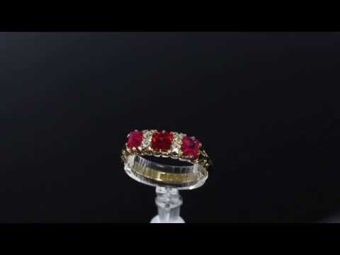 Antique Ruby and Diamond Ring M410