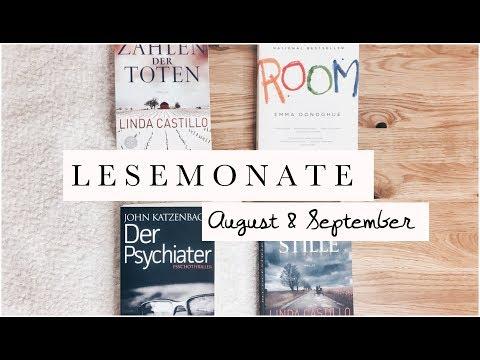 LESEMONATE AUGUST & SEPTEMBER | BUCHEMPFEHLUNGEN