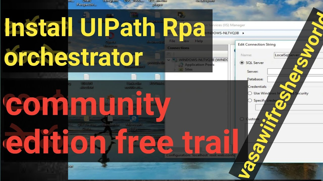 How to install UIPath orchestrator community edition trail version